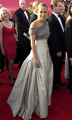 J Lo at the 2001 Oscars