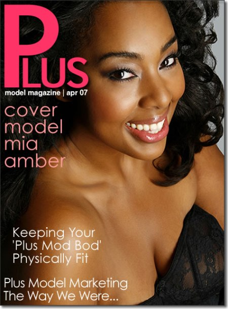 Mia Amber on the April 2007 Cover of Plus Model Magazine