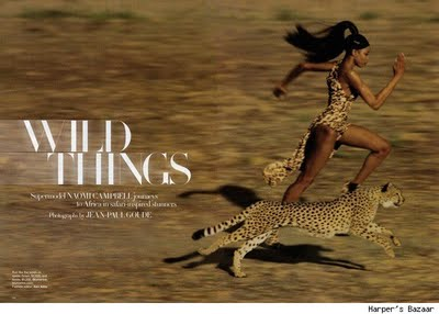 Naomi Campbell for Harpers Bazaar