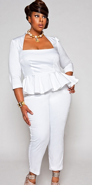 Plus Model Mia Amber for Monif C. Plus Sizes | MiaAmber.com